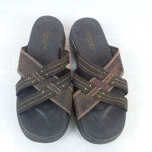 Skechers USA Size 9 Sandals Chocolate Brown